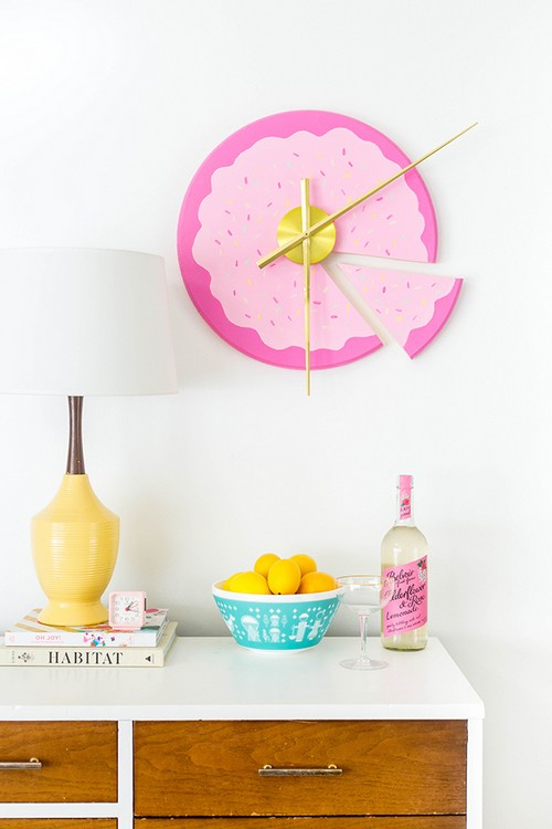 DIY Sliced Cake Wall Clock