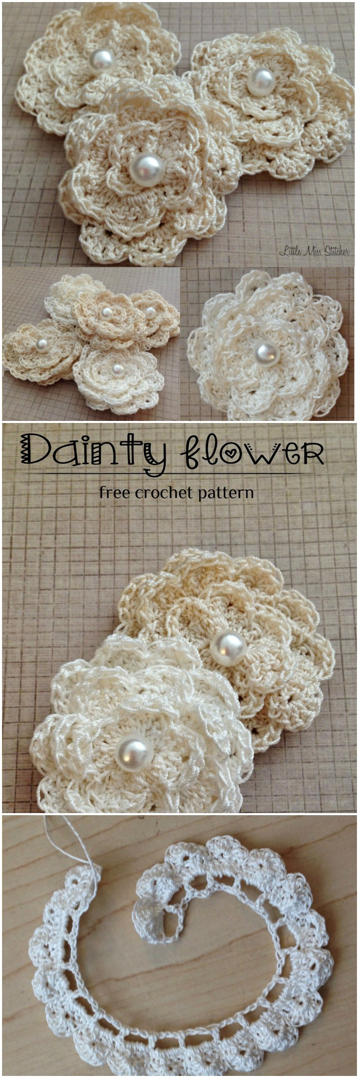 Dainty DIY Crochet Flowers