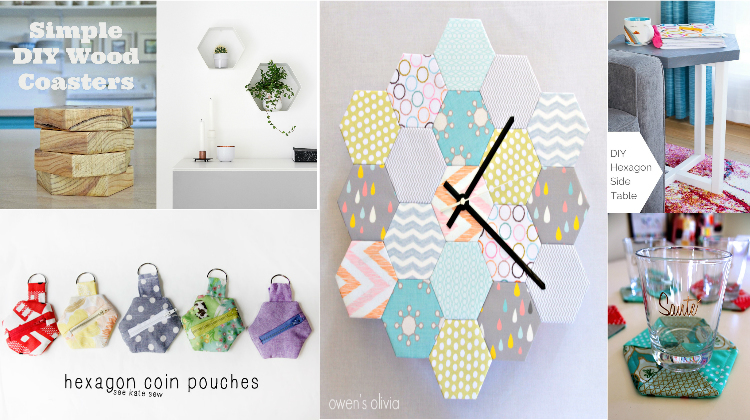 Trendy DIY Hexagon Projects Easy To Make
