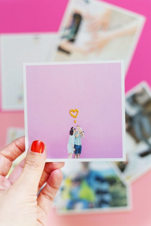 DIY Embroidered Instagrams Idea