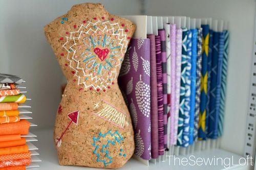 DIY Embroidered Zenbroidery Cork Mannequin