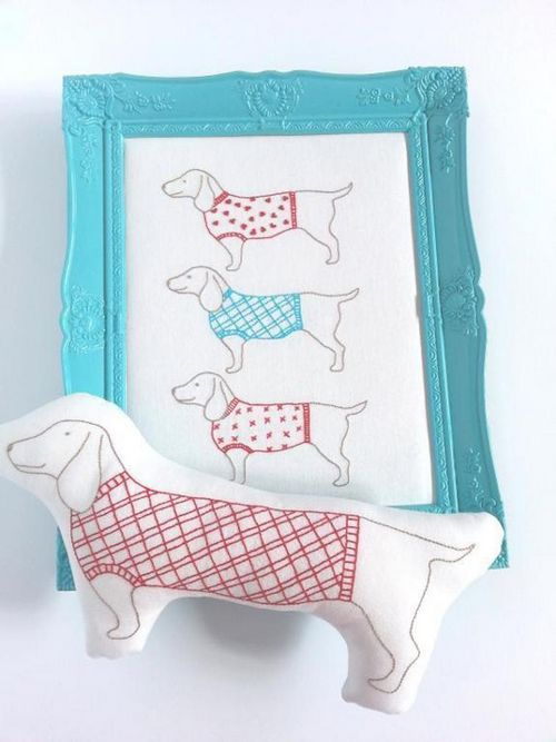 DIY Simply Sausages embroidery and rattle