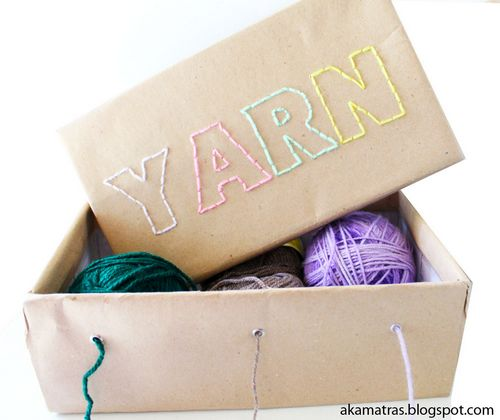 Make A Embroidered Yarn Box