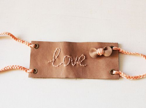 Turn Your Handwriting Into An DIY Embroidered Leather Cuff