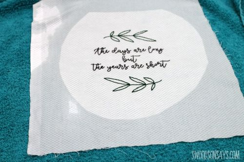 how to transfer DIY Embroidered