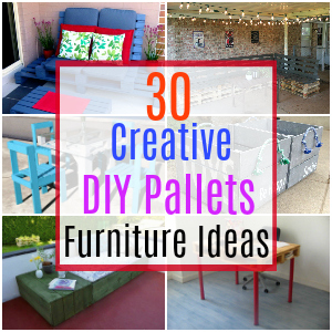 30 Creatve DIY Pallet Furniture Ideas
