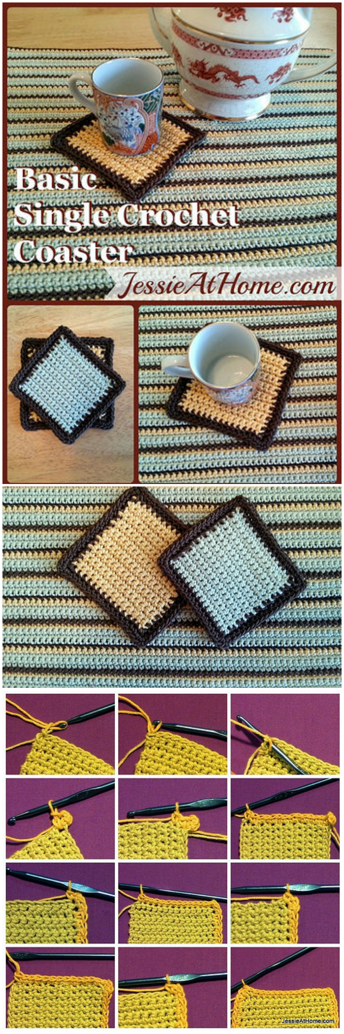 Basic Single Crochet Coaster - free crochet coaster patterns | Free Crochet Coaster Patterns