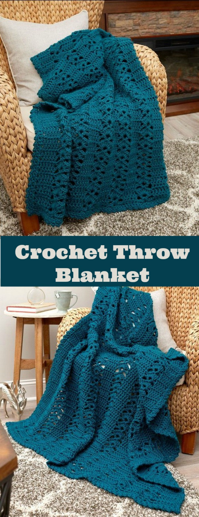 Charming Crochet Throw Blanket -All of these free crochet blanket patterns are so much beautiful and really easy. Most of them are so much less time-consuming and even they can be completed in less than one week. #Blankets #crochetblanket #crochetblanketpatterns #freecrochetblanketpattern #freecrochetblanket