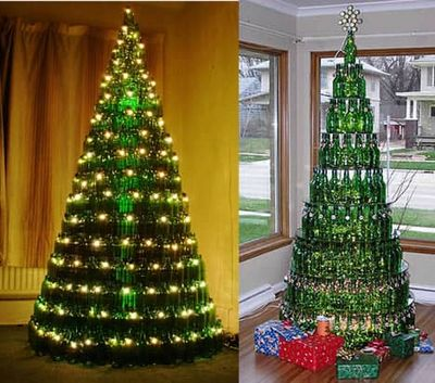 DIY Christmas Trees Idea Made With Recycled Bottles