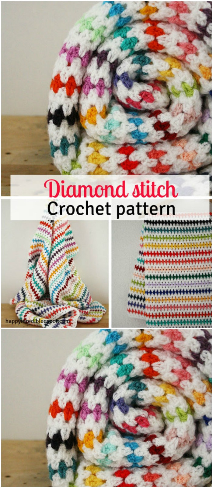 Diamond Stitch Blanket Crochet Pattern - All of these free crochet blanket patterns are so much beautiful and really easy. Most of them are so much less time-consuming and even they can be completed in less than one week. #Blankets #crochetblanket #crochetblanketpatterns #freecrochetblanketpattern #freecrochetblanket