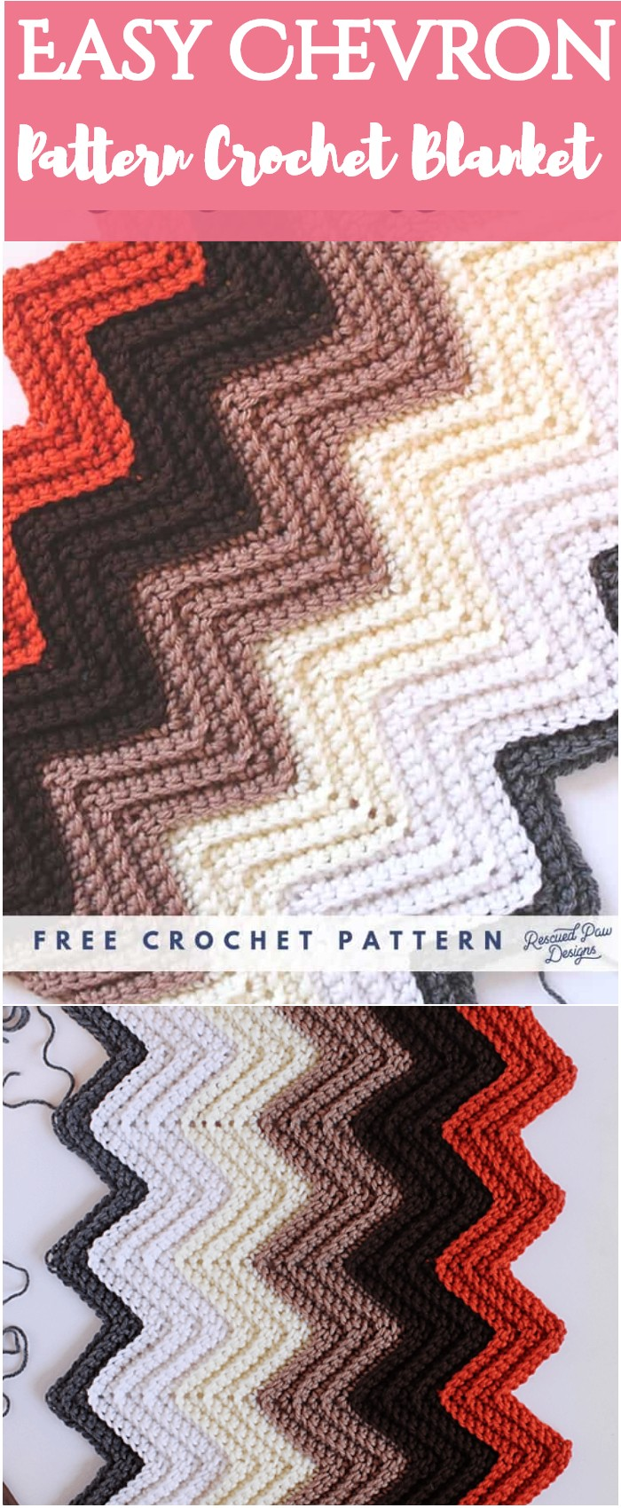 Easy Chevron Pattern Crochet Blanket - All of these free crochet blanket patterns are so much beautiful and really easy. Most of them are so much less time-consuming and even they can be completed in less than one week. #Blankets #crochetblanket #crochetblanketpatterns #freecrochetblanketpattern #freecrochetblanket