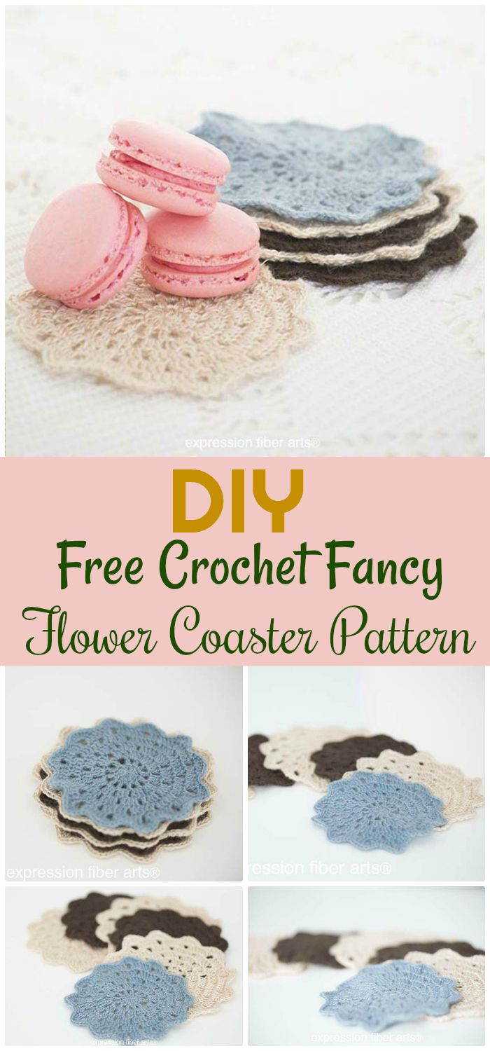 Free Crochet Fancy Flower Coaster Pattern - free crochet coaster patterns | Free Crochet Coaster Patterns