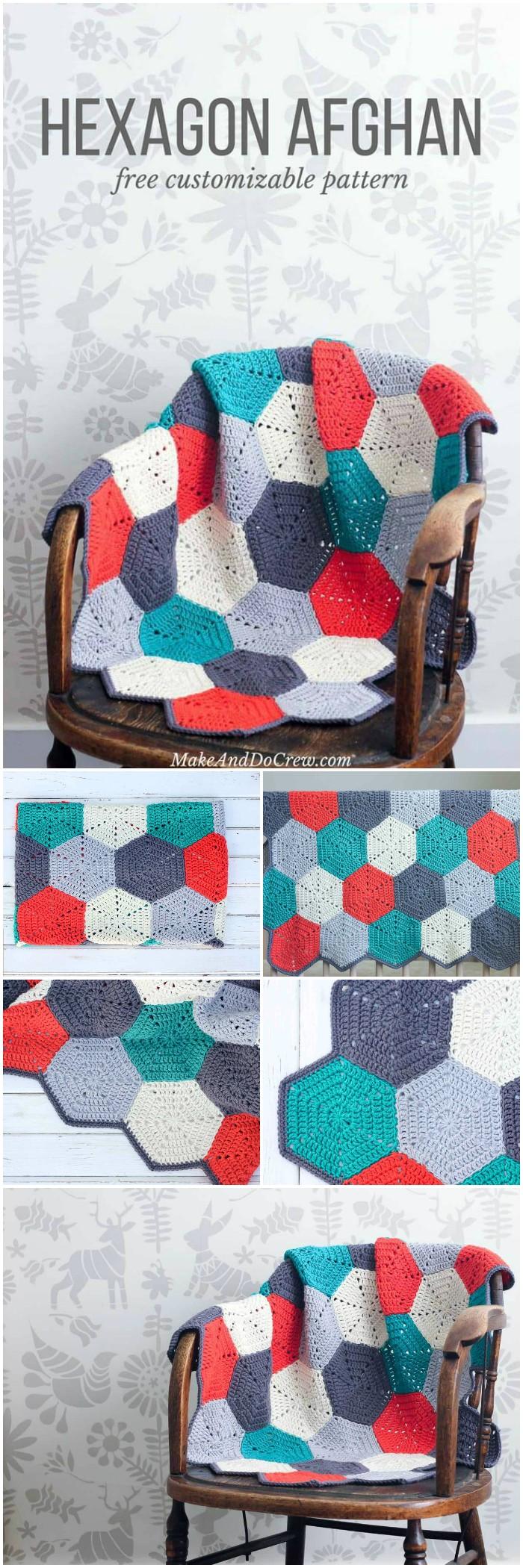 Happy Hexagons Free Crochet Afghan Pattern - All of these free crochet blanket patterns are so much beautiful and really easy. Most of them are so much less time-consuming and even they can be completed in less than one week. #Blankets #crochetblanket #crochetblanketpatterns #freecrochetblanketpattern #freecrochetblanket