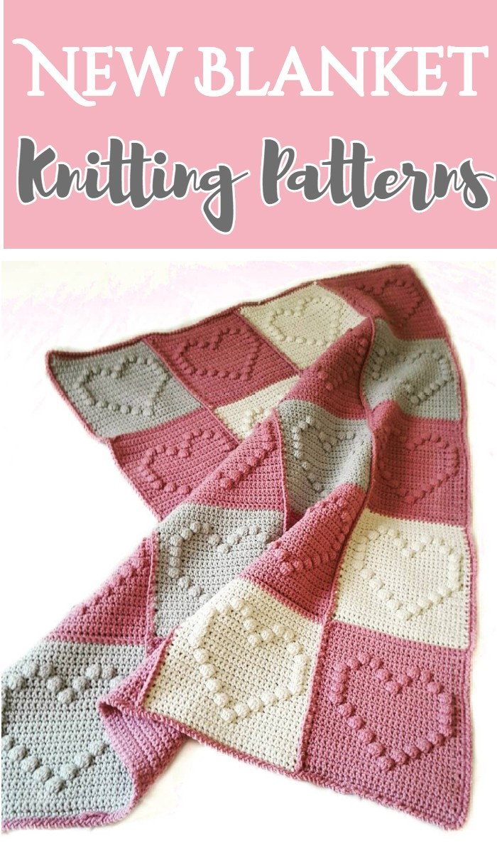 New Blanket Knitting Patterns -All of these free crochet blanket patterns are so much beautiful and really easy. Most of them are so much less time-consuming and even they can be completed in less than one week. #Blankets #crochetblanket #crochetblanketpatterns #freecrochetblanketpattern #freecrochetblanket