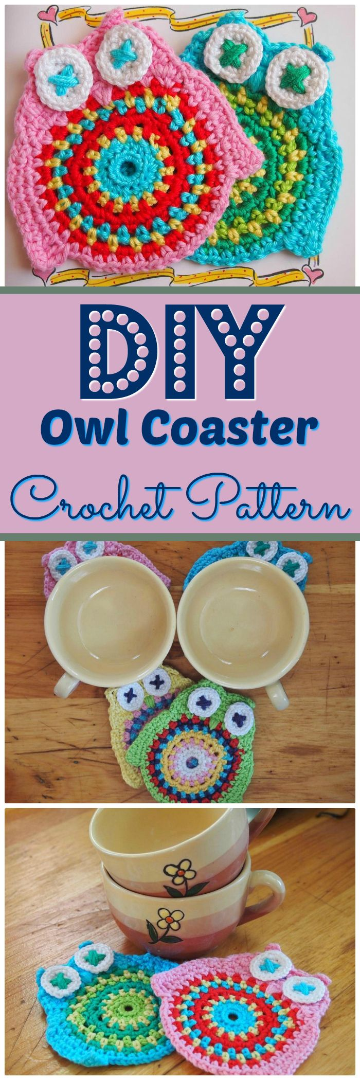 Owl Coaster Crochet Pattern - free crochet coaster patterns | Free Crochet Coaster Patterns
