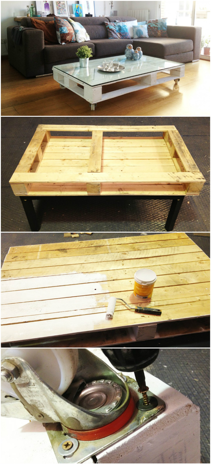 Pallet DIY Coffee Table - pallet coffee table