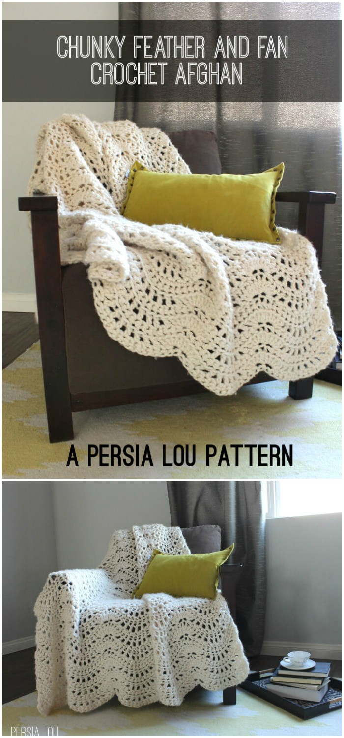 Pretty Crocheted Afghan Pattern Blanket -All of these free crochet blanket patterns are so much beautiful and really easy. Most of them are so much less time-consuming and even they can be completed in less than one week. #Blankets #crochetblanket #crochetblanketpatterns #freecrochetblanketpattern #freecrochetblanket