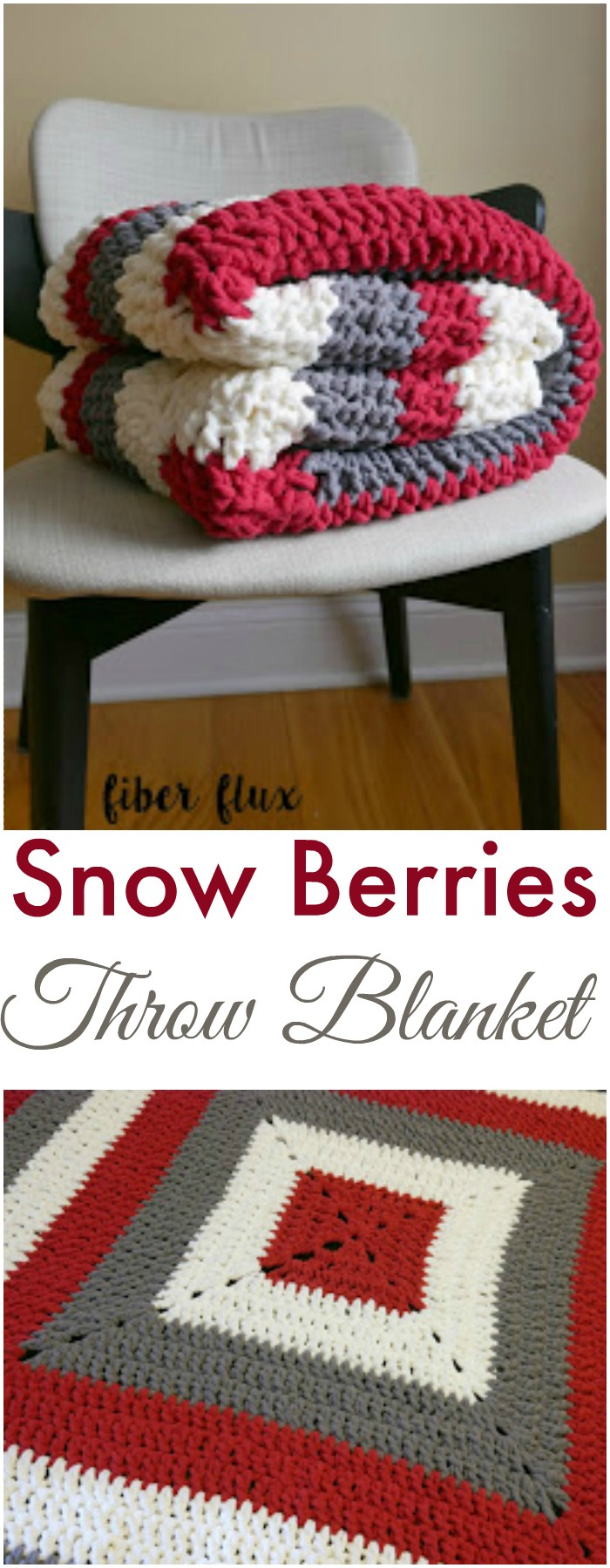 Snow Berries Throw Blanket - All of these free crochet blanket patterns are so much beautiful and really easy. Most of them are so much less time-consuming and even they can be completed in less than one week. #Blankets #crochetblanket #crochetblanketpatterns #freecrochetblanketpattern #freecrochetblanket