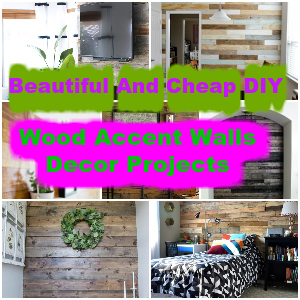 Beautiful And Cheap DIY Wood Accent Walls Decor Projects