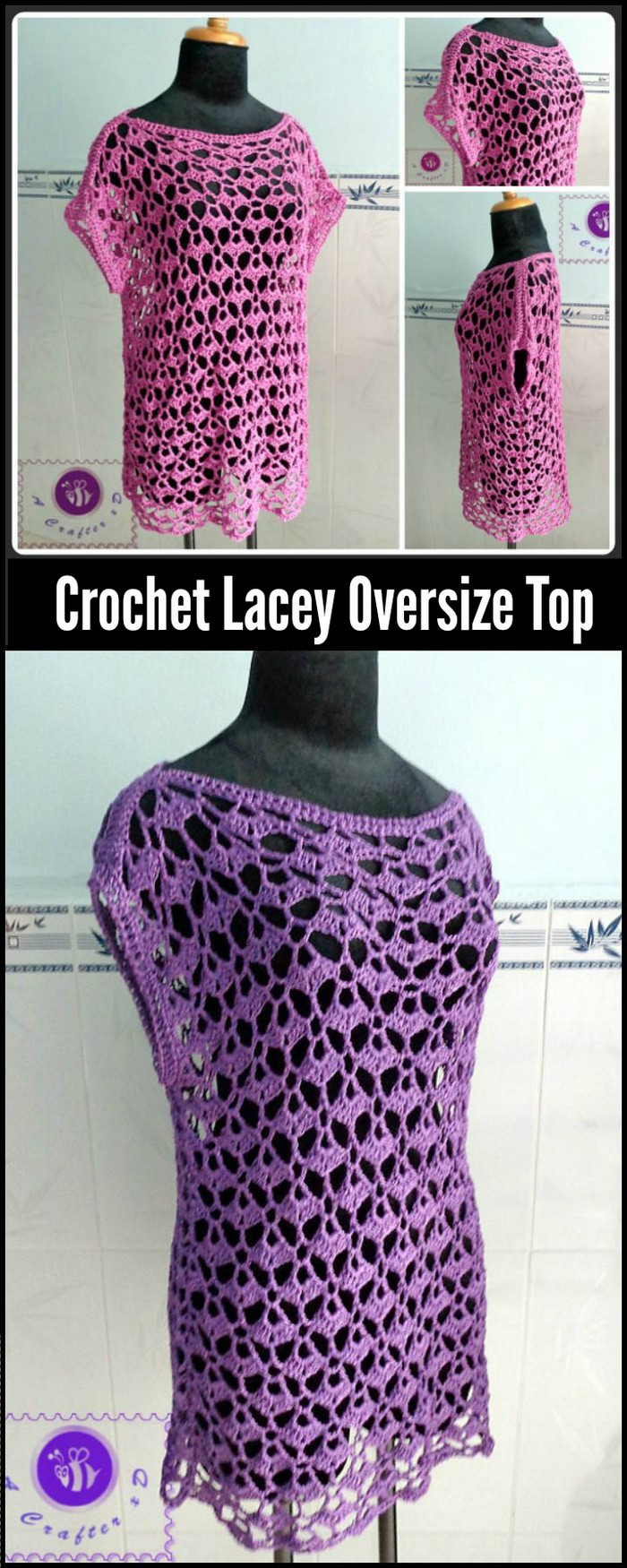 Crochet Lacey Oversize Top