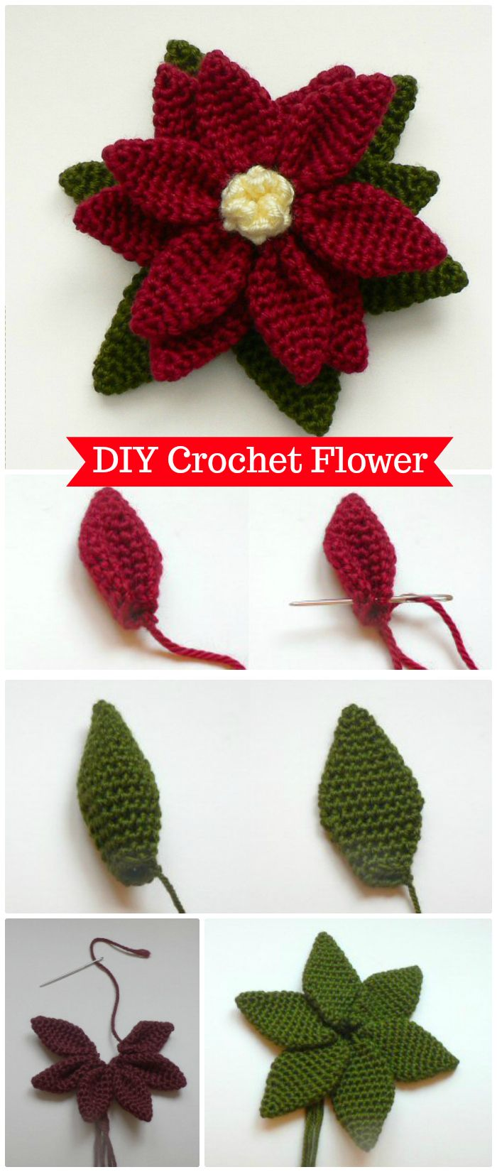 Easy Crochet Flower - crochet flower pattern free | crochet flower pattern | crochet flower pattern free easy