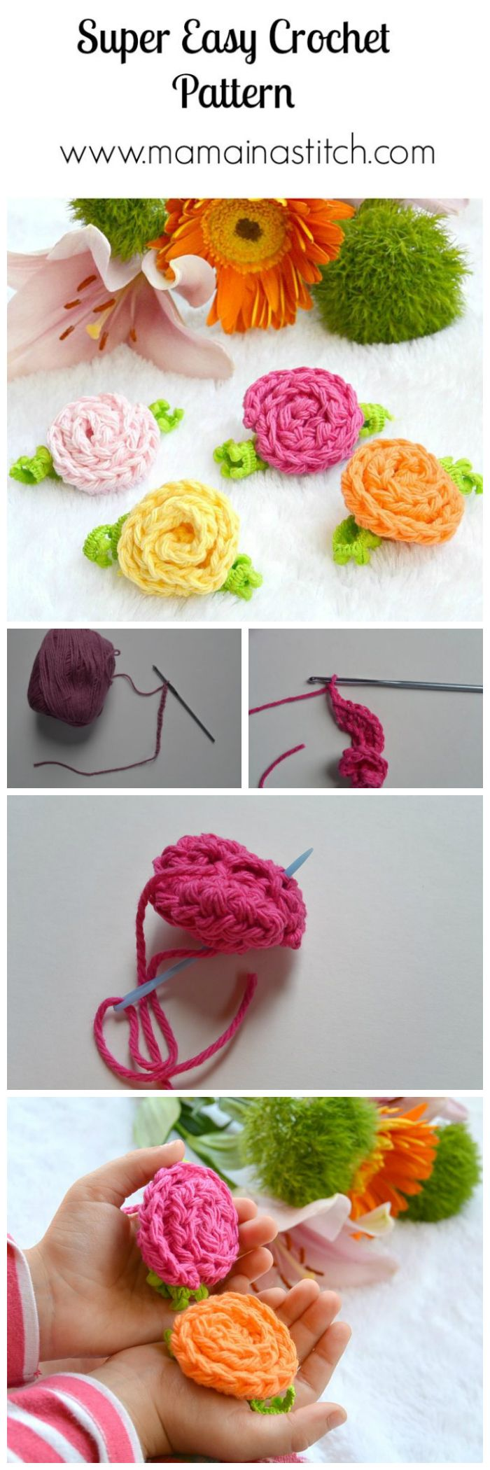 Free Crochet Deco Roses Pattern - crochet flower pattern free | crochet flower pattern | crochet flower pattern free easy