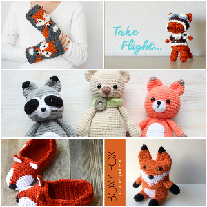 Fox crochet pattern - free. With some modifications, this would be ... | 300x300