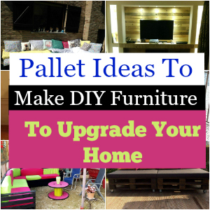 Pallet Ideas to make DIY furniture to upgrade your home 1