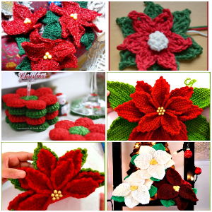 15 Crochet Poinsettia Christmas Flower Patterns Diy Crafts