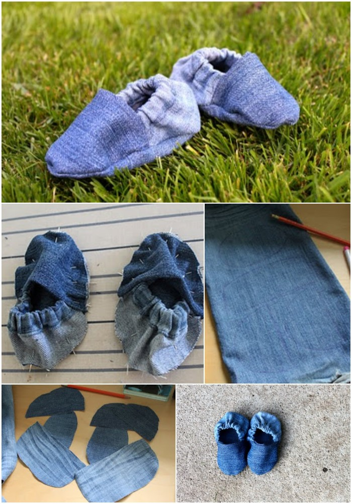 DIY Baby Shoes (recycled from old jeans)