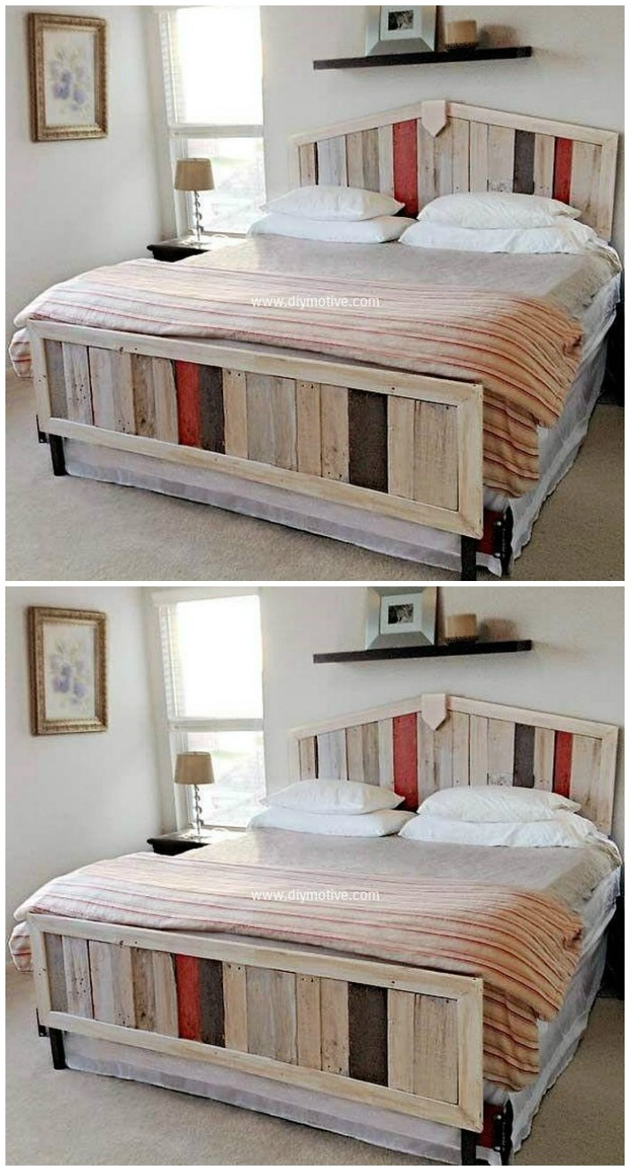 Recycled Wood Bed Idea