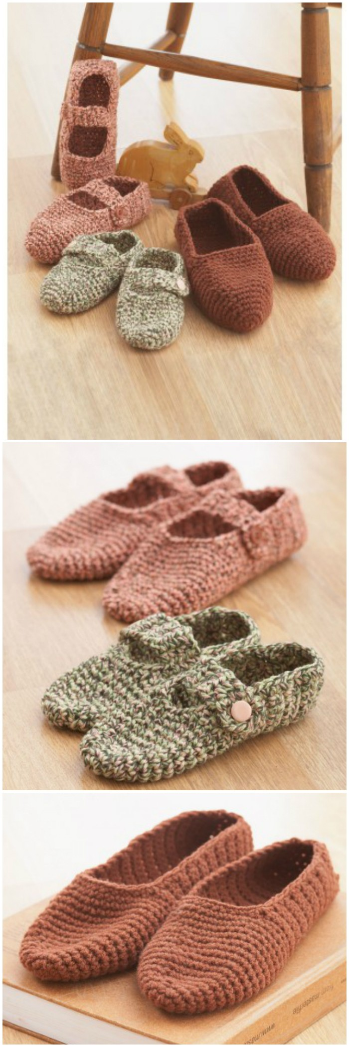 Bernat Family Slippers to Crochet