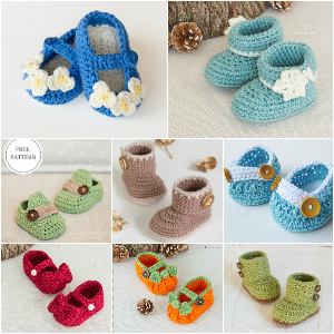 Crochet Booties - Free Patterns 1