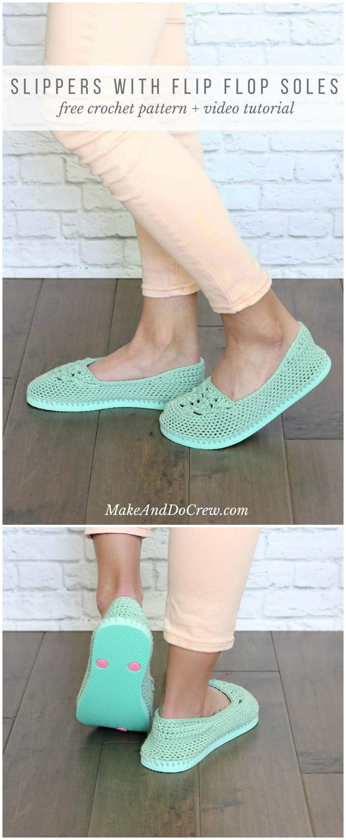 Lightweight Crochet Slipper Pattern