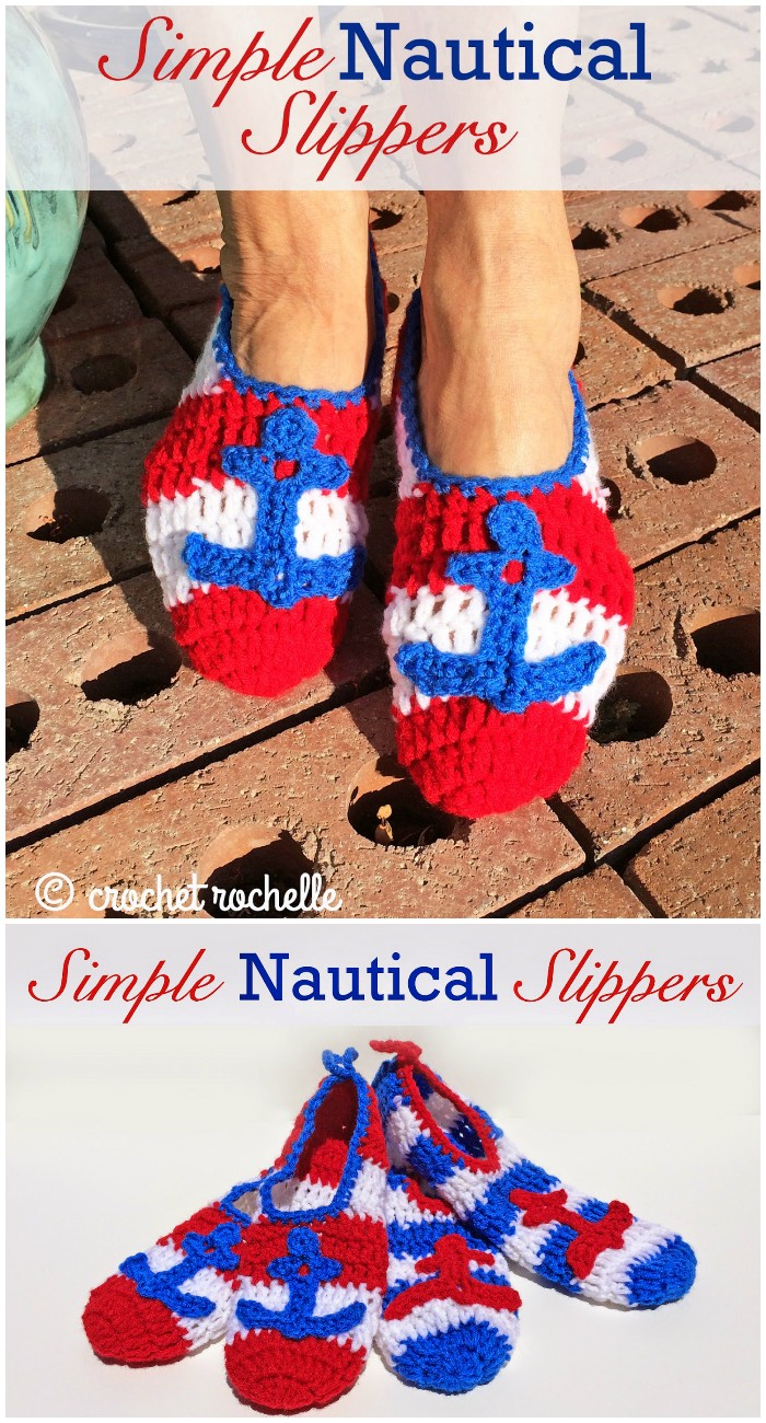 Simple Nautical Slippers