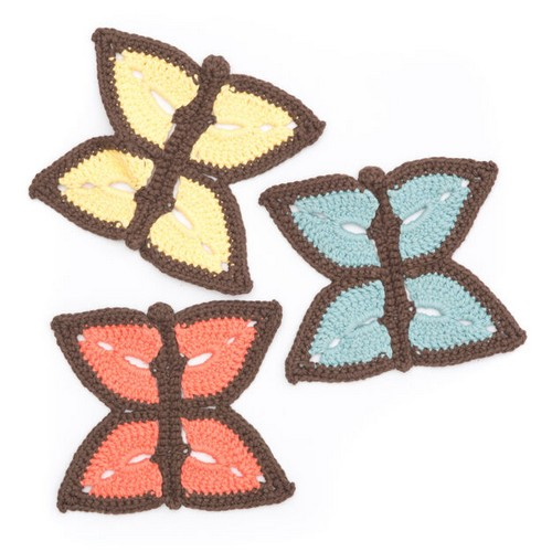 Summer Butterfly Dishcloth