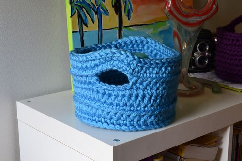 Chunky Crocheted Basket Two