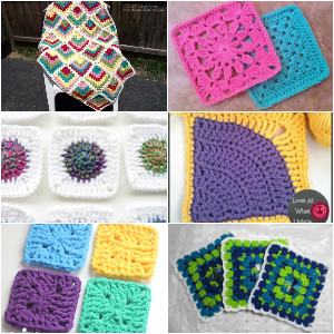 Easy And Interesting Crochet Squares To Create Blankets