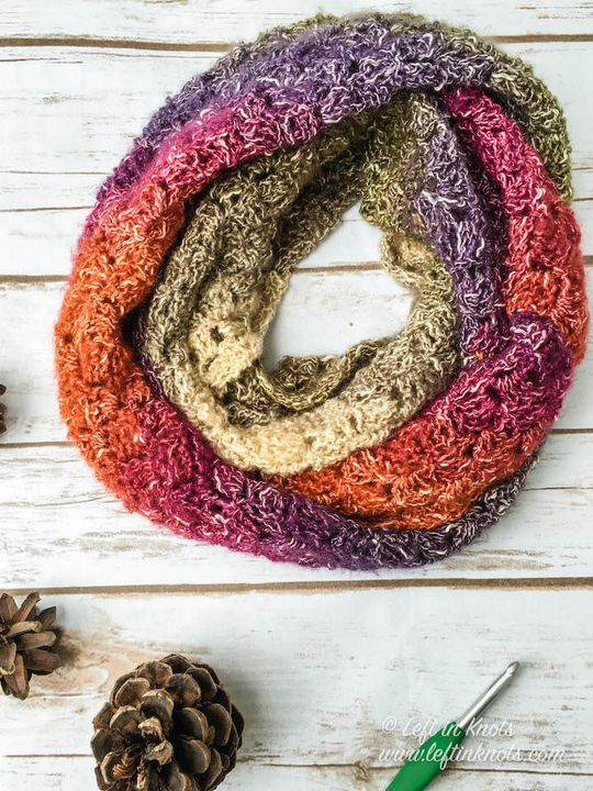 Crochet Eventide Infinity Scarf