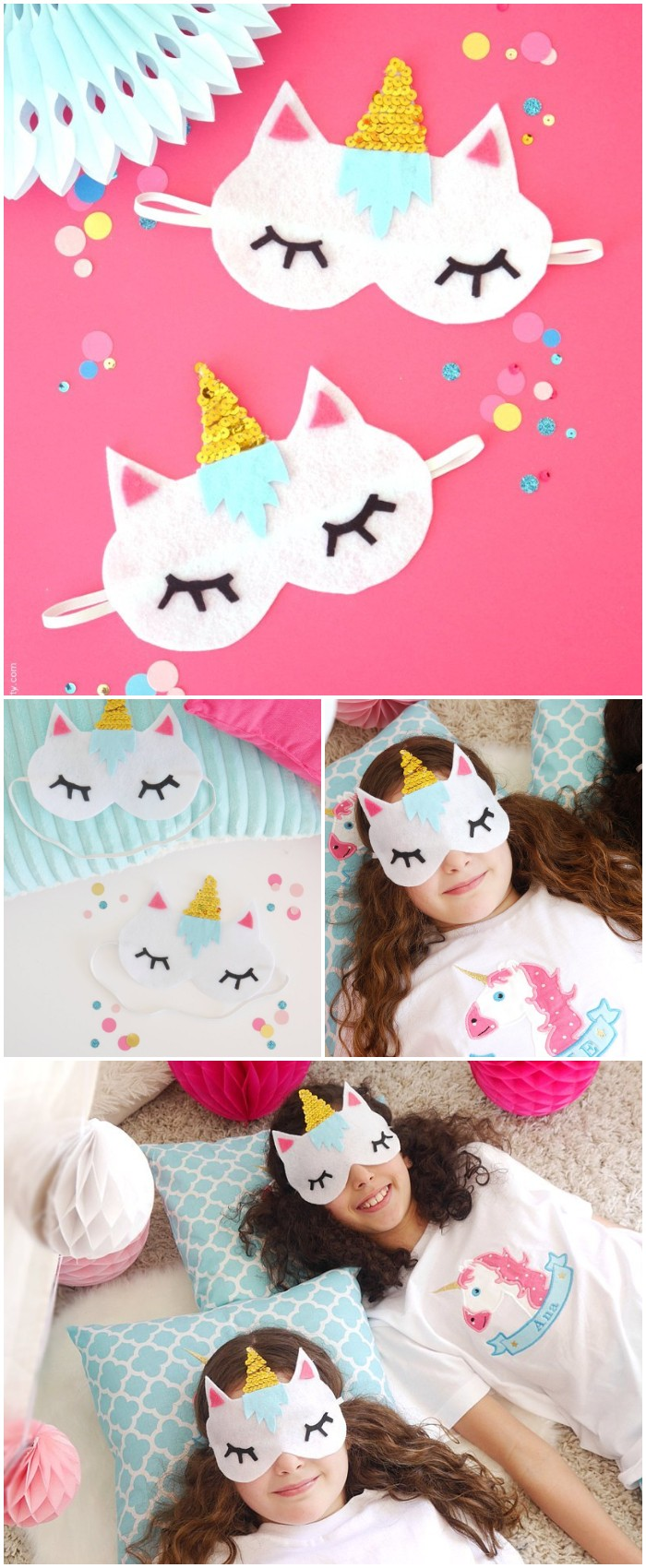 Sleeping Masks With Free Template