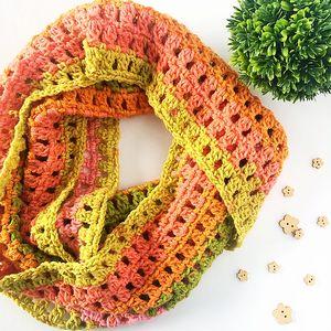 Frost Crochet Infinity Scarf
