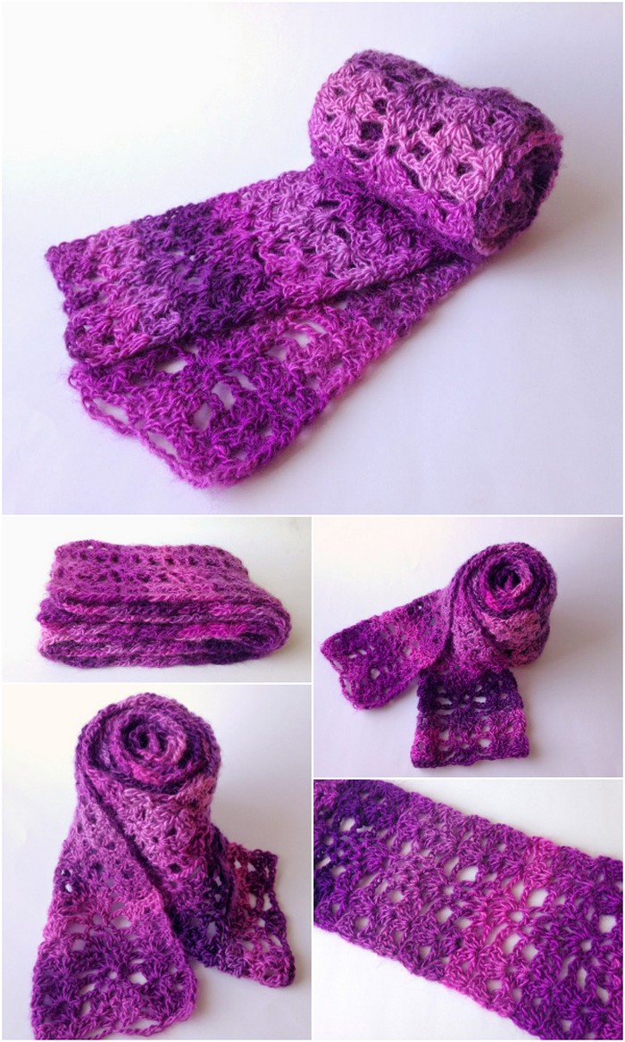 Berry Scarf Free Crochet