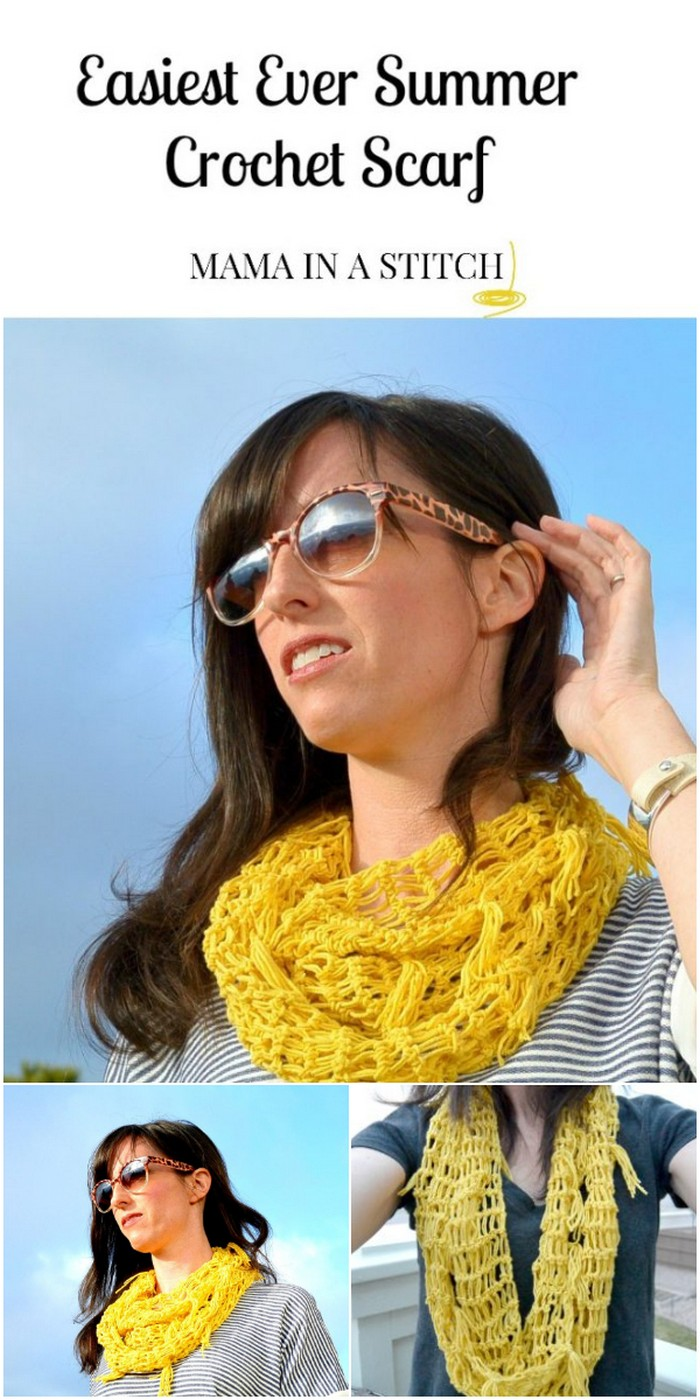 Crochet Spring Infinity Scarf