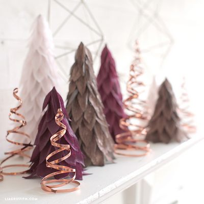 DIY Copper Christmas Trees Craft With Tutorial