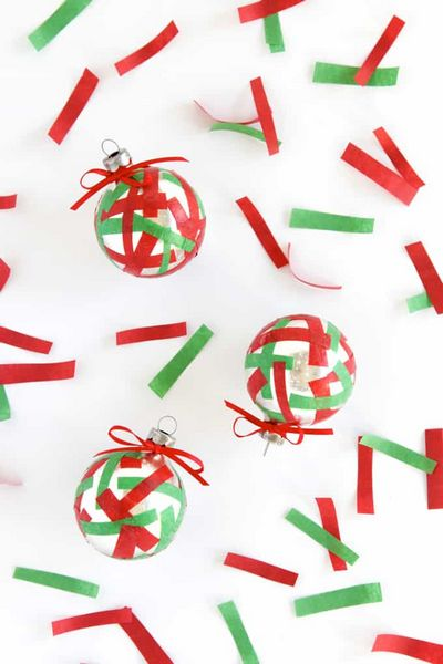 Quick DIY Confetti Christmas Ornaments Idea