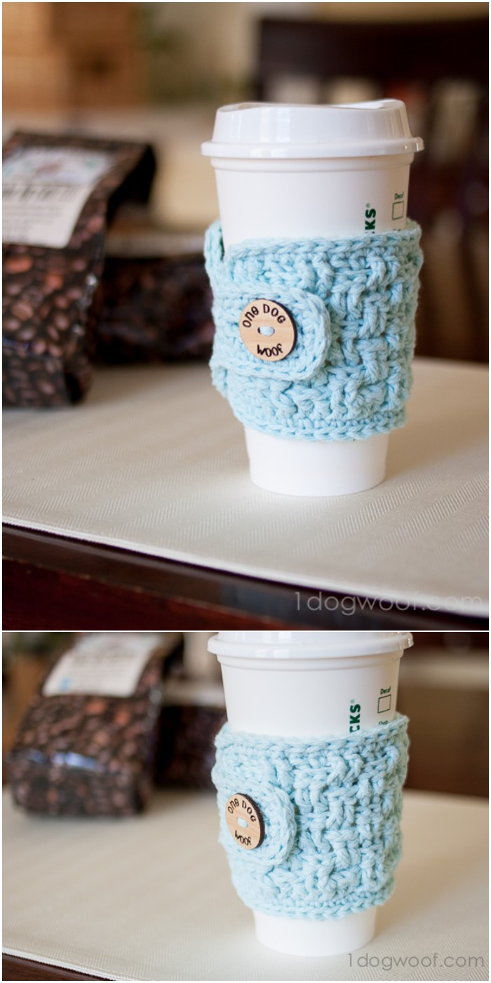 Basketweave Cup Cozy