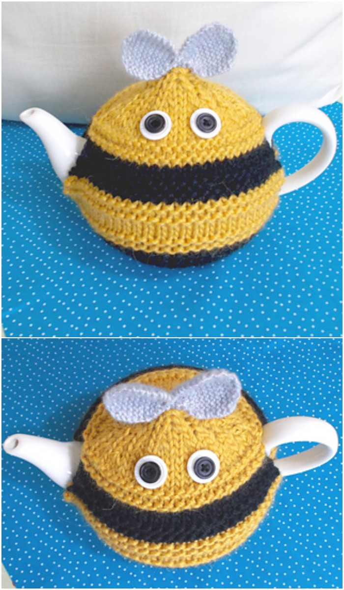 Bee Crochet Tea Cozy
