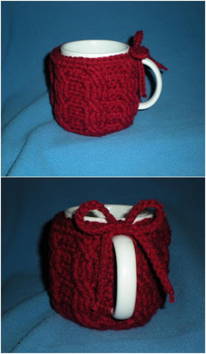 Crochet Cable Mug Cozy