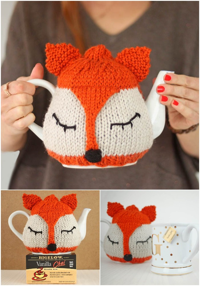 Crochet Fox Tea Cozy