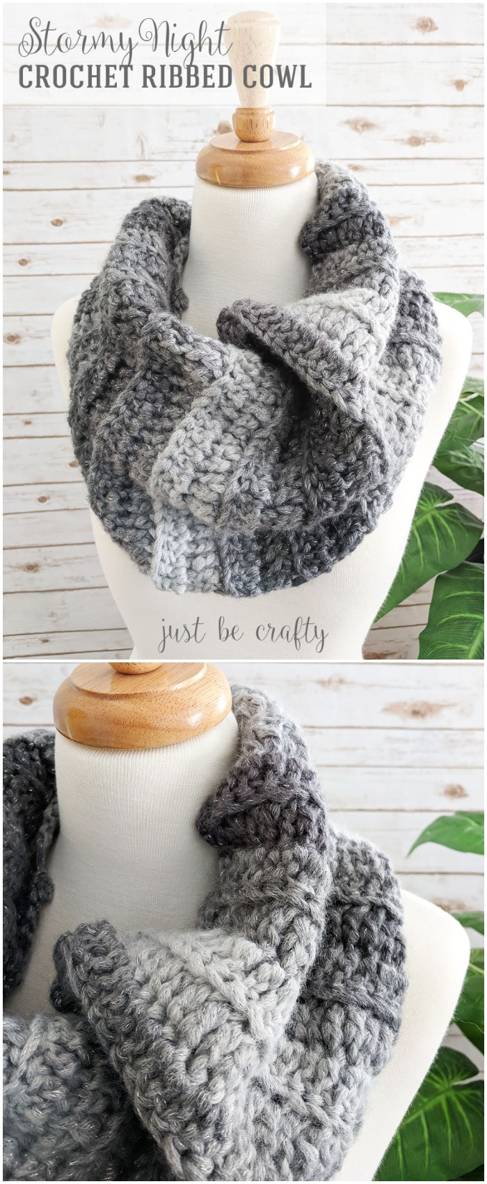 Crochet Ribbed Cowl Pattern